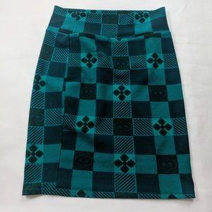 Lularoe Cassie Pencil Skirt Plaid Checks Stretch